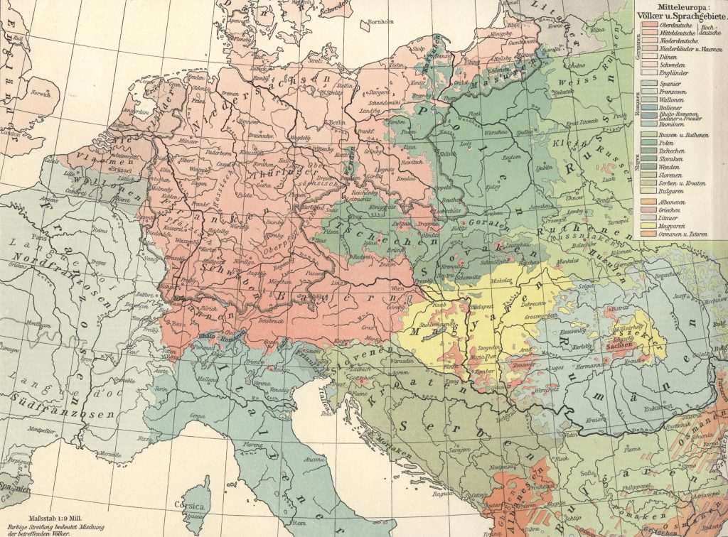 map of europe in german language linguistic maps of europe languages of europe