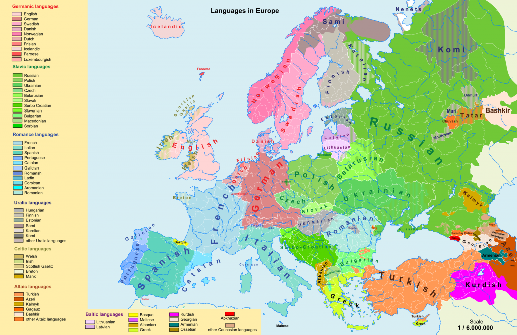 2015 Map Of Europe.Linguistic Maps Of Europe Languages Of Europe