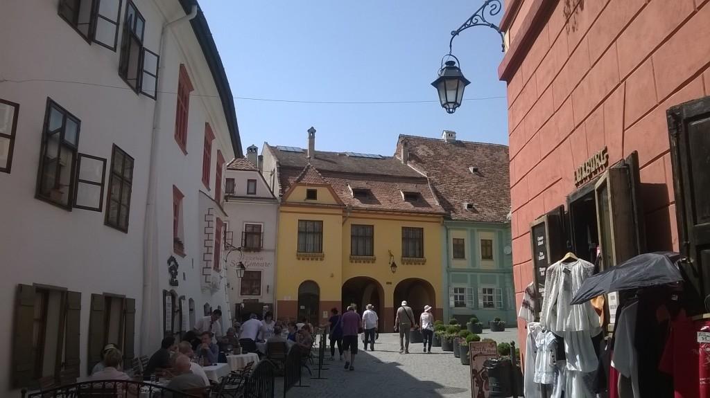 A street in central Sighișoara.