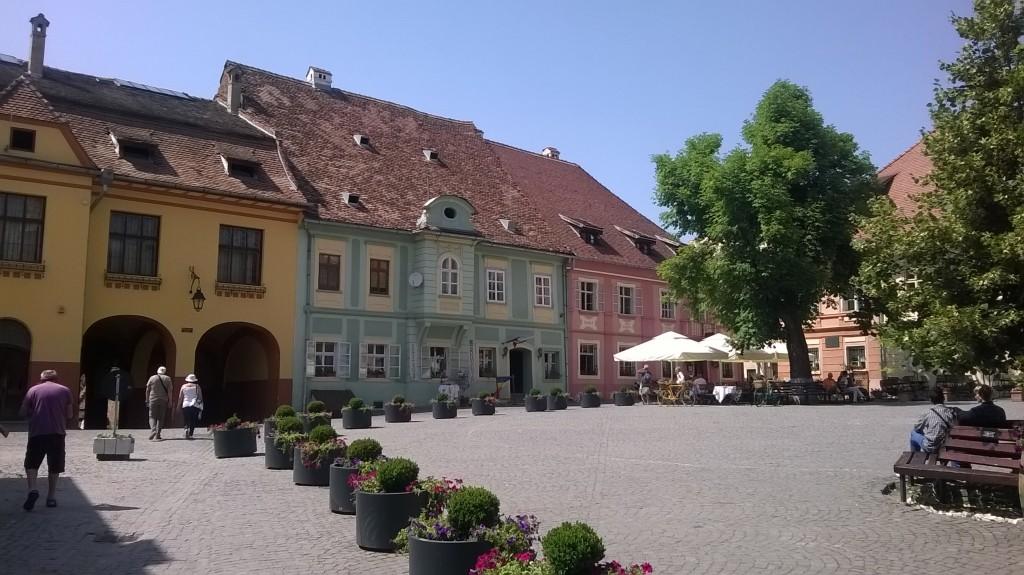 The Central Square in Sighișoara.