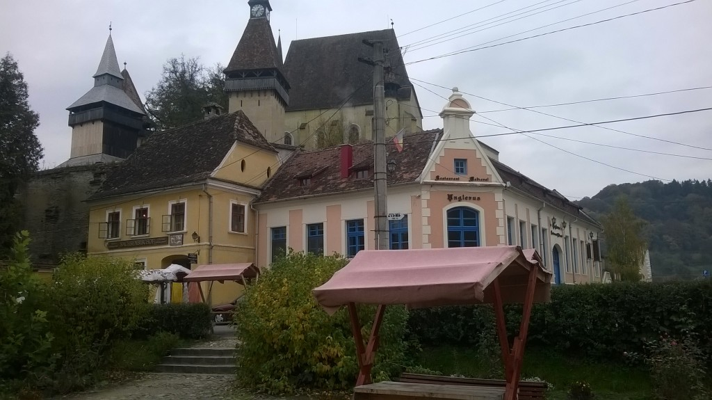 Outside view of the fortified church of Birthälm (Romanian: Biertan)