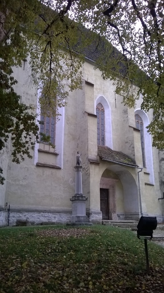The entrance to the Lutheran fortified church Birthälm (Romanian: Biertan)