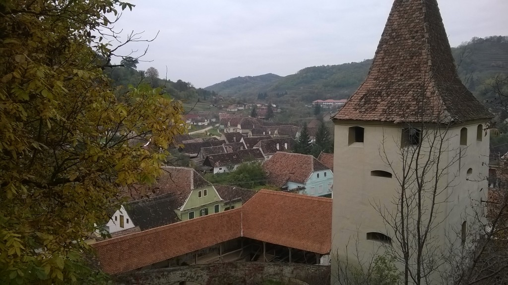 Panoramic view of the village from the hilltop