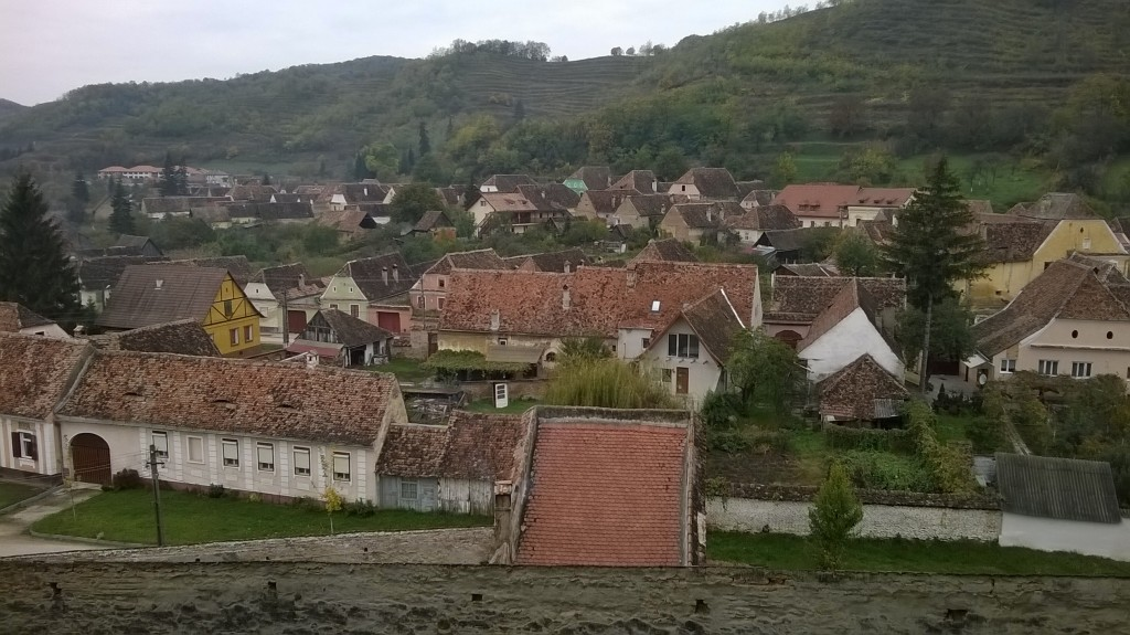View of the village of Birthälm from the walls of the fortified church