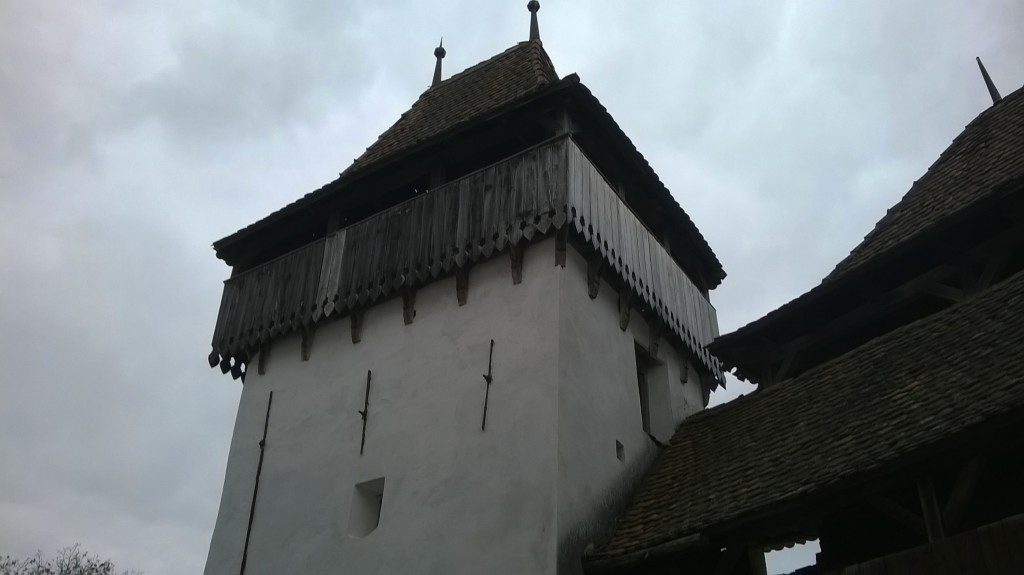 View of one of the fortified towers.