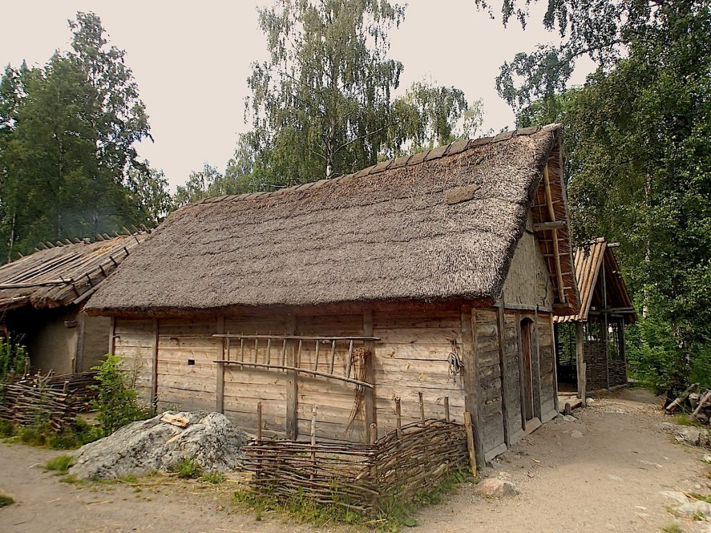 A reconstructed Viking Age house in Birka. Image source: www.worldsheritage.travel.wordpress.com