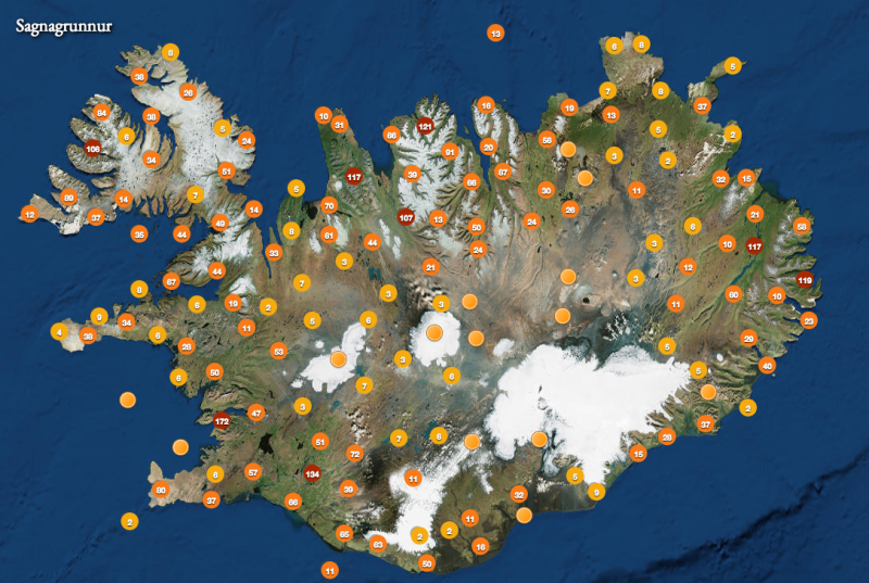 Map depicting the whereabouts of the elves in Iceland. Image source: www.trippingovertheworld.wordpress.com