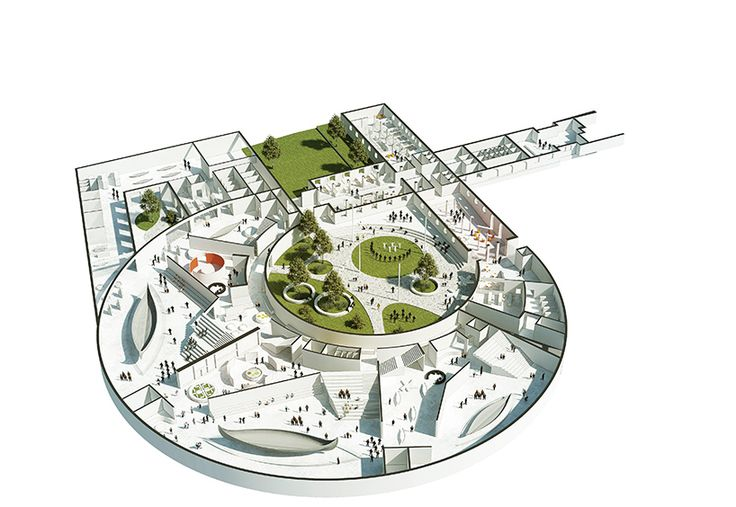 Plan of the new extension of the Museum of Cultural History in Oslo, Norway by AART architects. Image source: www.pinterest.com