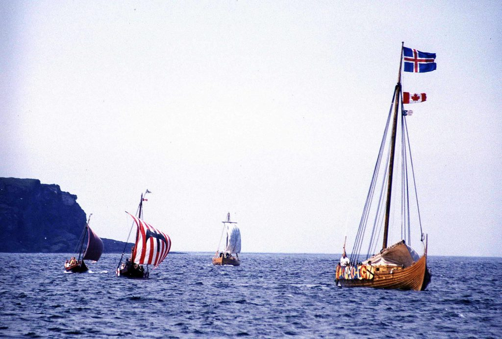 Íslendingur arriving at L'Anse-aux-Meadows, Newfoundland, Canada in October, 2000, as photograph by Joyce Hill. Image source: www.wikipedia.org