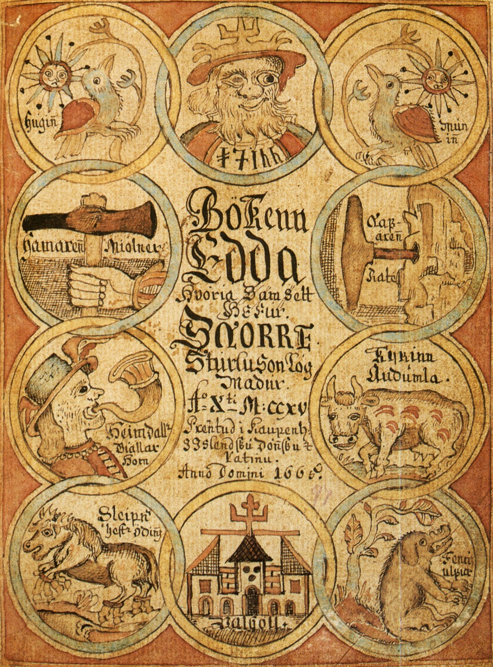 1666 Icelandic printed version of the 'Prose Edda' by Snorri Sturluson. Image source: www.commons.wikimedia.org