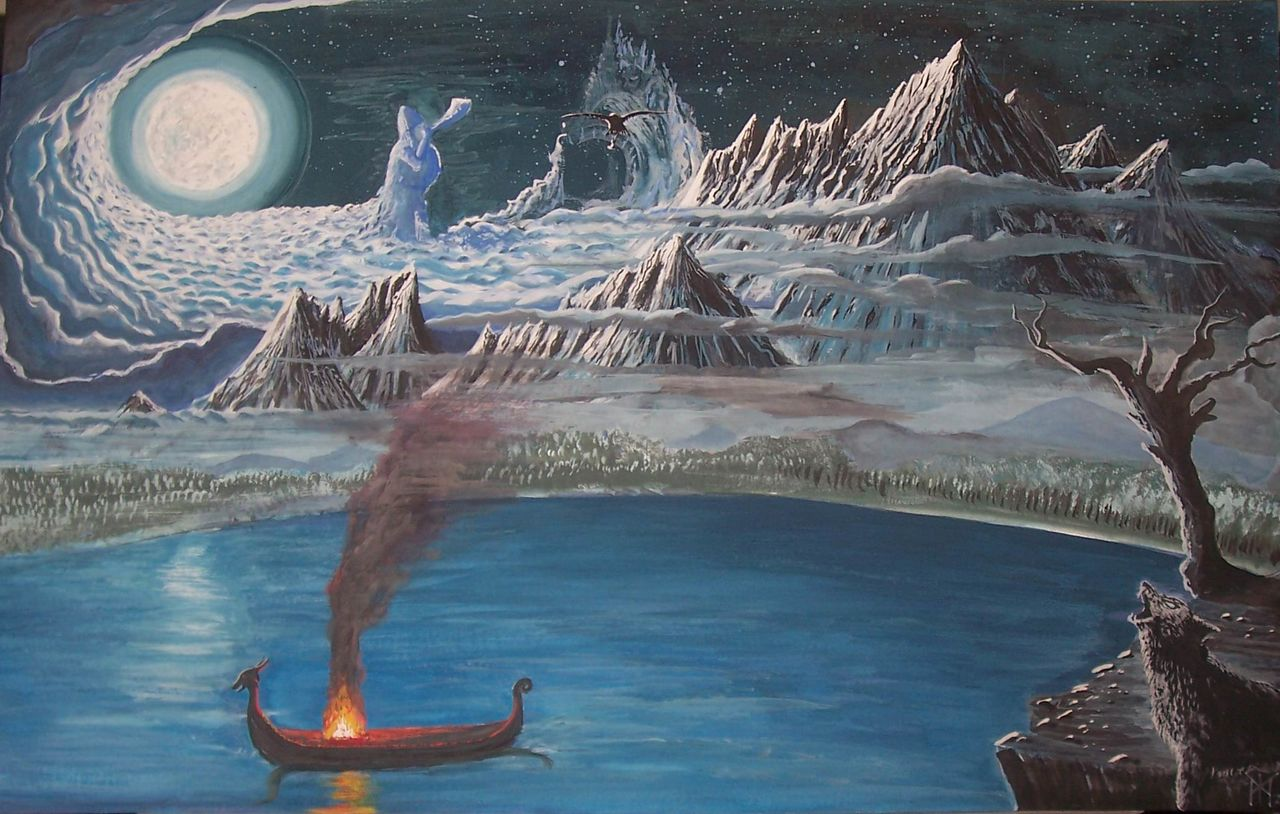 Artistic depiction of Midgard (the realm of mankind or the Middle Earth in Norse mythology). Image source: www.wikia.com