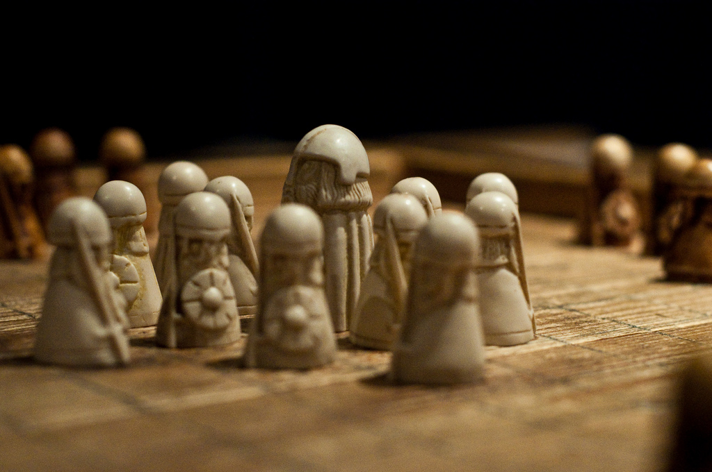 Reconstructed Hnefatafl game pieces. Image source: www.imgur.com