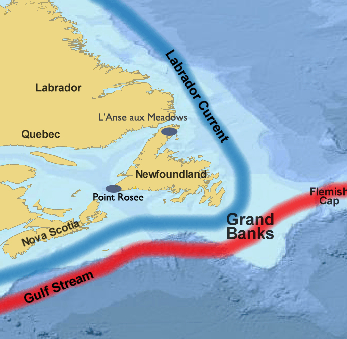 Location of Point Rosee headlong in Newfoundland, Canada. Image source: www.medievalhistories.com