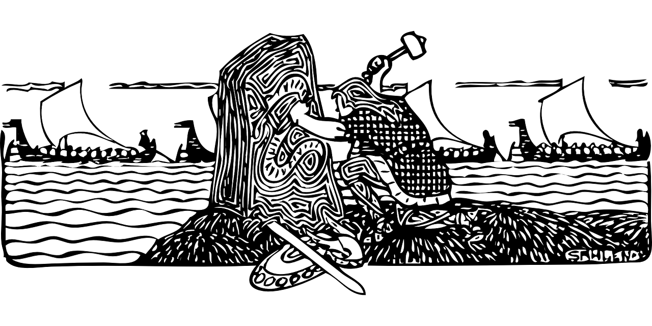 Artistic depiction of a Norseman carving a runestone. Image source: www.pixabay.com
